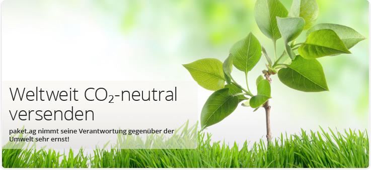 Weltweit CO2-neutral versenden