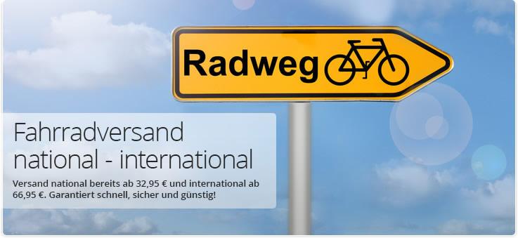 Fahrradversand national - international